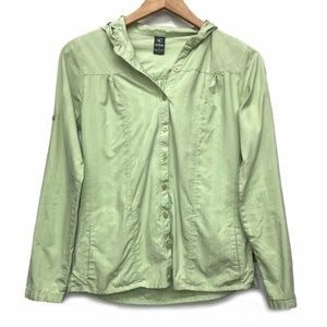 Kuhl Hooded Button Down Shirt Mint Green S